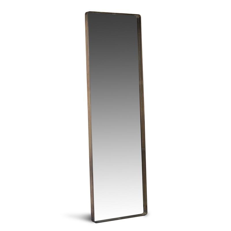 espejo rectangular con marco de acero